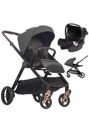 Kanz Xgo Gold Rose Çift Yönlü Travel Sistem Bebek Arabası Puset