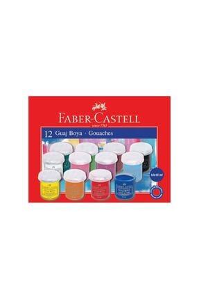 Faber Castell Guaj Boya 12 Renk 12x15 ml.