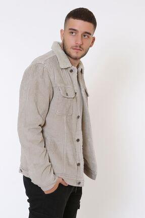 LTC Jeans Kadife Içi Kürklü Düğmeli Taş Ceket