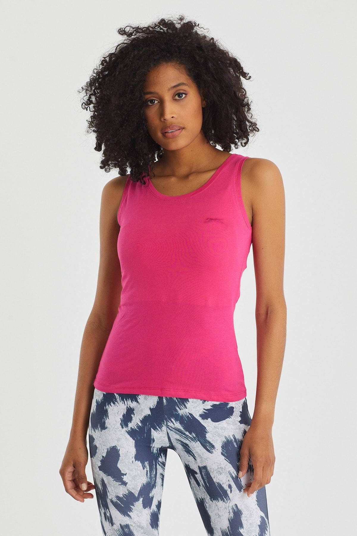Slazenger Sımon Kadın T-shirt Fuşya 1