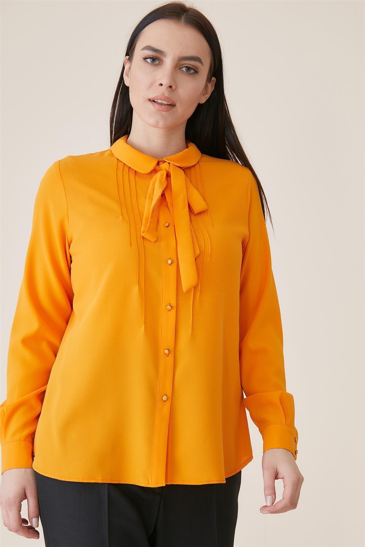 Tuğba Gömlek-oranj Tk-u8900-25 1