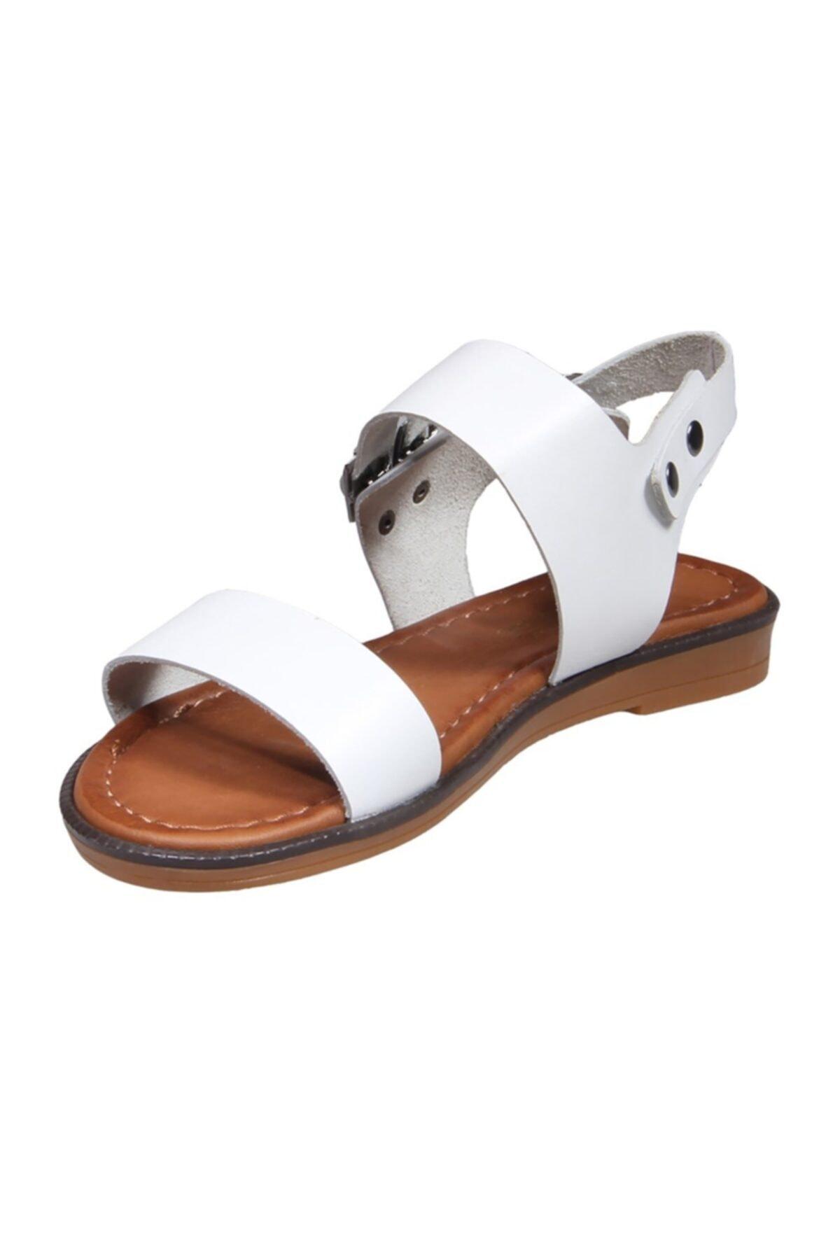MP Kadın Beyaz Sandalet Ayakkabı 2