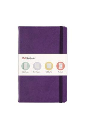Matt Notebook 13x21 Lastikli Defter Noktalı Mor