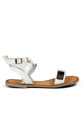 Hammer Jack Beyaz Kadın Terlik / Sandalet 374 38-z