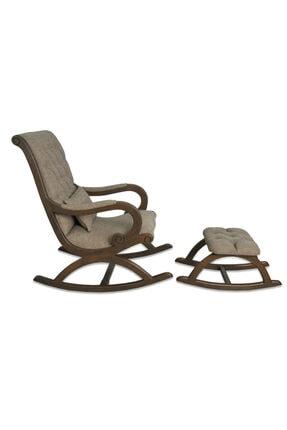 Asedia Teksas Ceviz -kahve Rustik Sallanan Sandalye