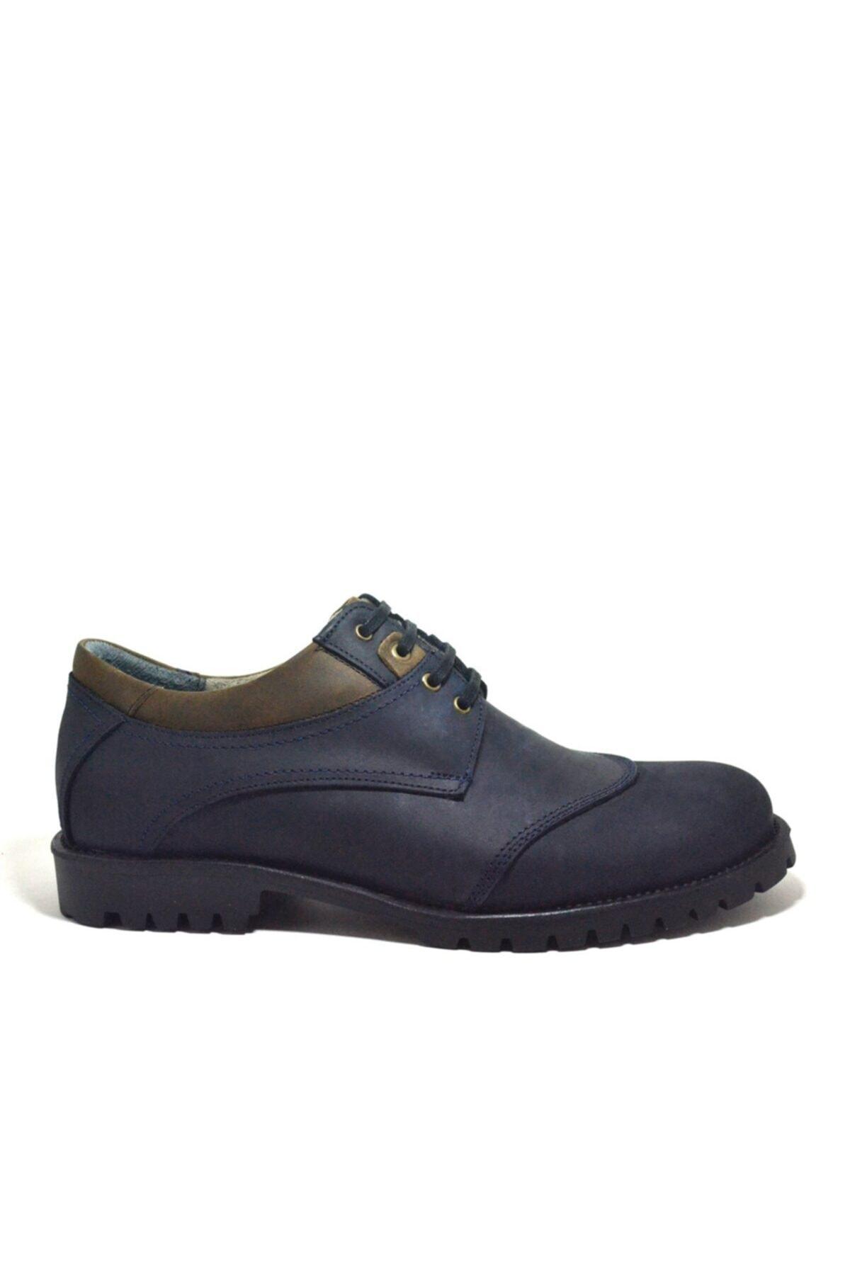 Tardelli Hakiki Deri Nubuk Büyük Numara Erkek Ayakkabı 2