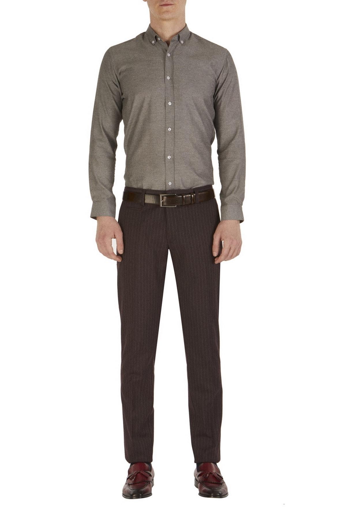 Efor P 1054 Slim Fit Bordo Klasik Pantolon 1