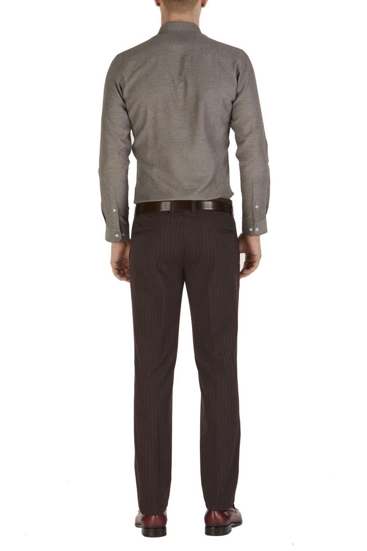 Efor P 1054 Slim Fit Bordo Klasik Pantolon 2