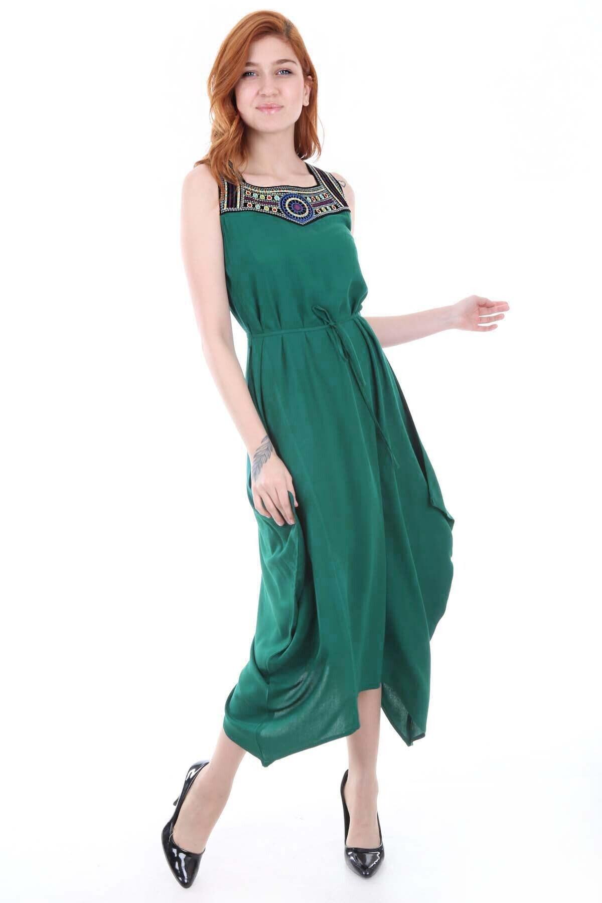 Bigdart 1512 Önü Nakışlı Elbise 2