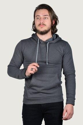 Terapi Men Erkek Kapşonlu Uzun Kollu Sweatshirt 9y-5200178-020-1 Füme