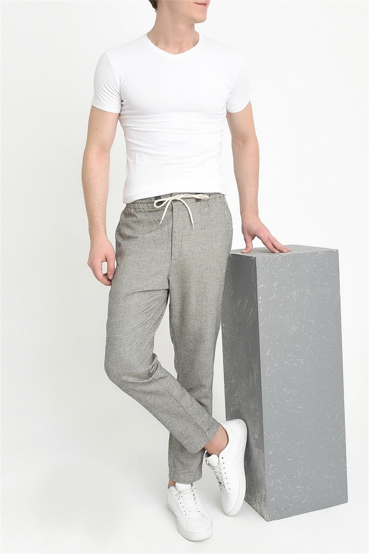 Efor Atp 09 Slim Fit Gri Spor Pantolon 2