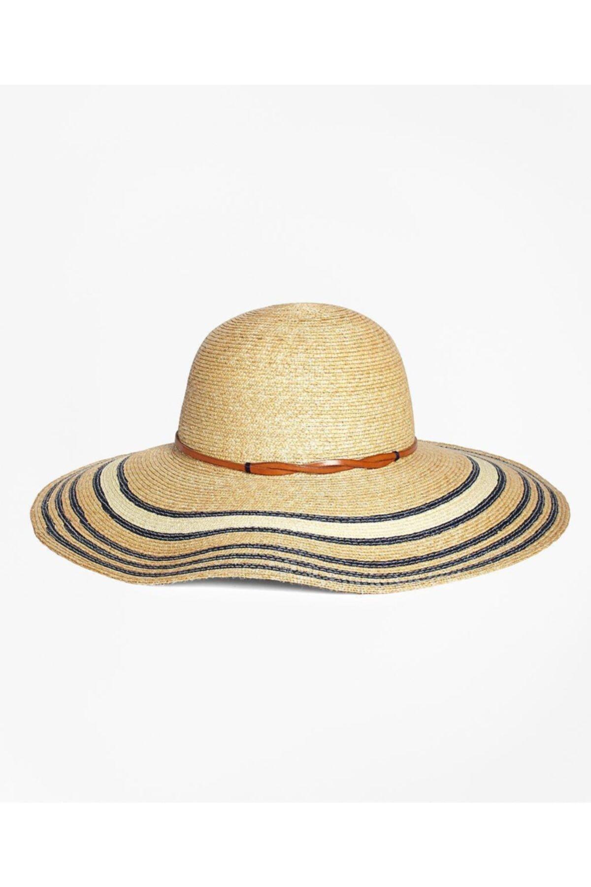 BROOKS BROTHERS Kadın Bej Hasır Şapka 1
