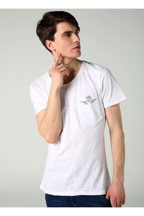 LTC Jeans Bisiklet Yaka Cep Detay Beyaz Erkek T-shirt