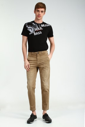 Collezione Bej Yan Cep Erkek Pantolon