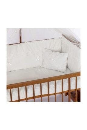 Bambidoo Bebek Uyku Seti 60x120 Beyaz Güpürlü %100 Pamuk (yorgan Ve + 1 Yastıklı)