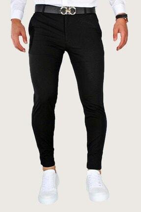 Terapi Men Erkek Keten Pantolon Likralı 8y-2200166-002-1 Siyah