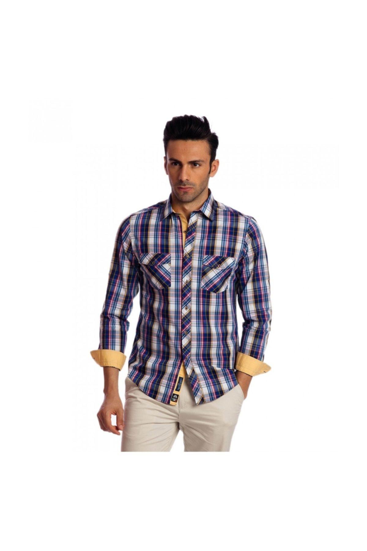 Karaca Erkek Slim Fit Casual Gömlek Sari 2