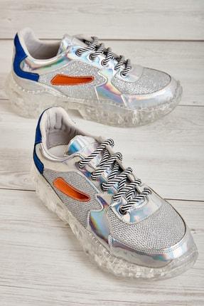 Bambi Gümüş Kadın Sneaker L06391808