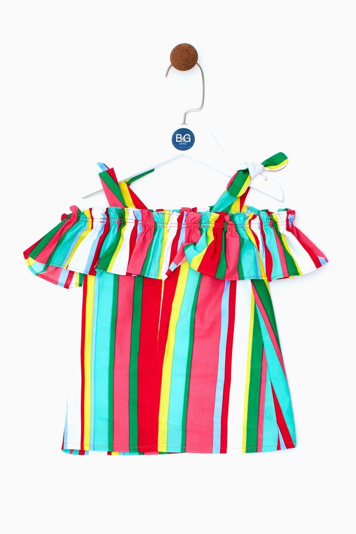 BG Baby Kız Bebek Çizgili Elbise 19ss0bg2911 2