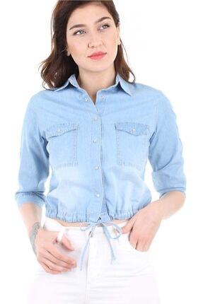Bigdart 3460 Eteği Bağlamalı Kot Gömlek