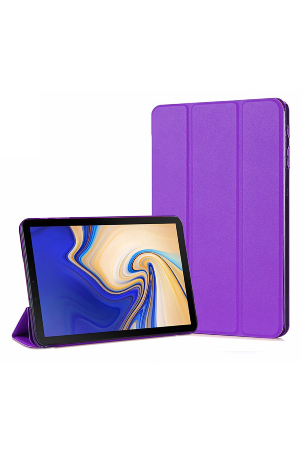 Microsonic Galaxy Tab A 10.5'' T590 Smart Case Ve Arka Kılıf, Microsonic Mor 1