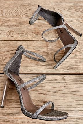 Bambi Kurşun Kadın Abiye Ayakkabı L0512121499