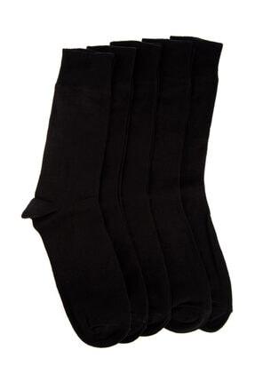 GLOSS Lüx Siyah Erkek Dikişsiz Çorap - 5'li Paket