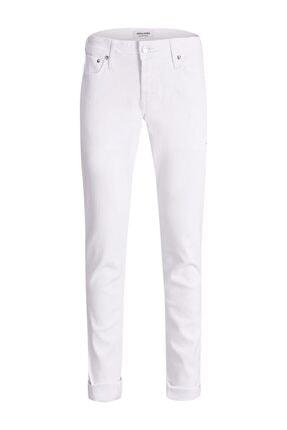 Jack & Jones Jack Jones Glenn Model Dar Kesim Beyaz Renk Kot Pantolon 12182689