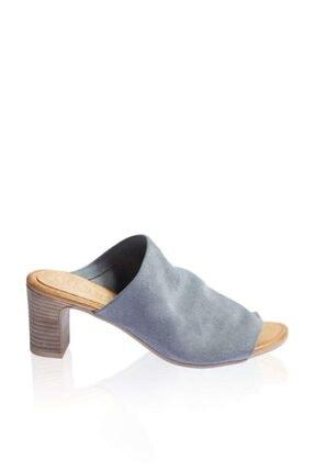 BUENO Shoes Önden Açık Hakiki Deri Topuklu Kadın Terlik 9n1503