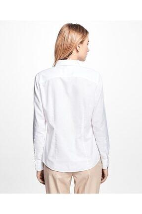 BROOKS BROTHERS Kadın Beyaz Non-iron Gömlek
