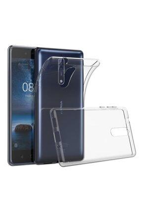 Nokia 8 Kılıf Soft Silikon Şeffaf Arka Kapak