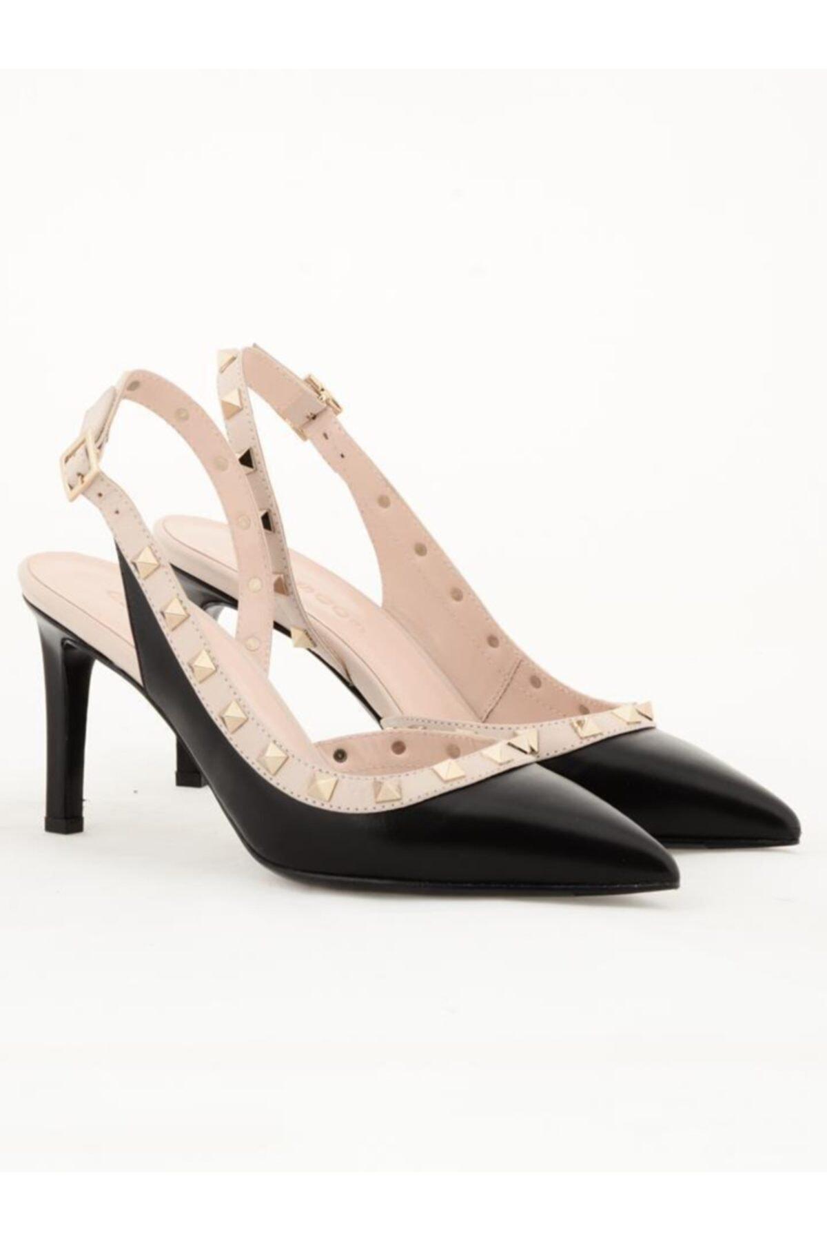 Nursace Hakiki Deri Klasik Topuklu Ayakkabı Nsc18y-a57118 1
