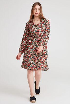 Gusto Çiçekli Elbise - Lacivert