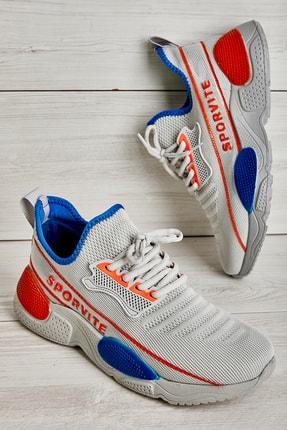 Bambi Gri Orange Erkek Sneaker L1501185482