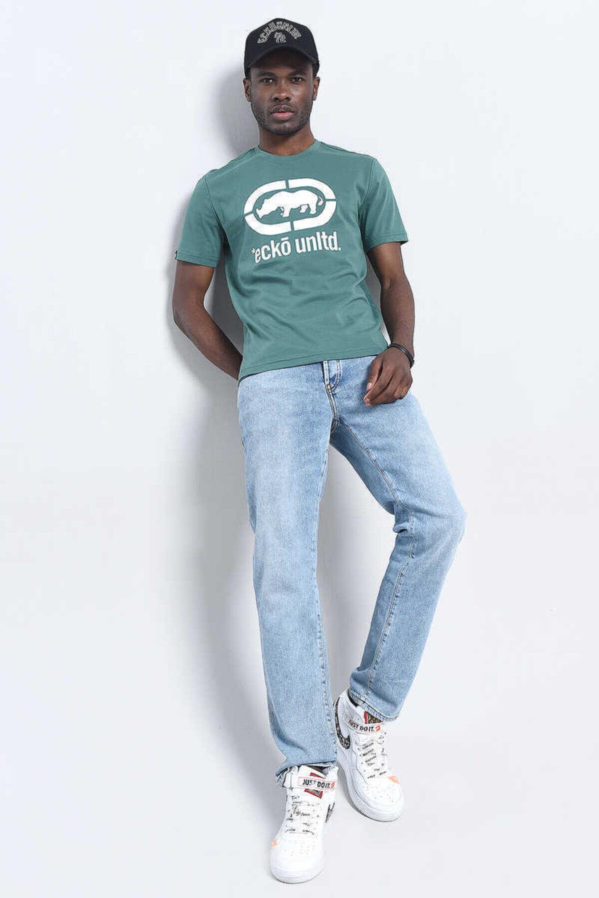 ECKO UNLTD Logo Tee Yeşil Erkek Baskılı Bisiklet Yaka T-shirt 2