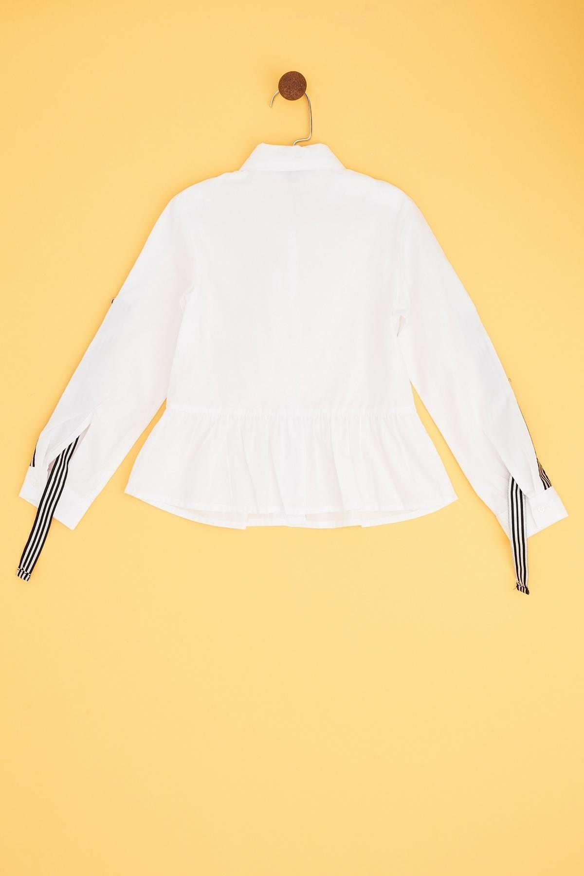 Tyess Kız Çocuk Beyaz Gömlek 2
