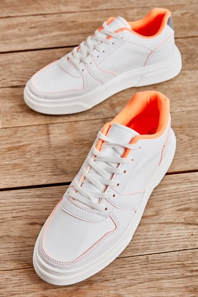 Bambi Beyaz Turuncu Erkek Sneaker L1806725209