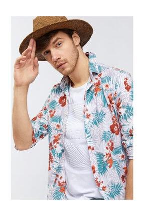 Avva Erkek Lila Baskılı Alttan Britli Yaka Slim Fit Gömlek A91y2122