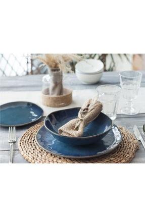 Madame Coco Bleu Infini 2 Kişilik Yemek Takımı - Mavi