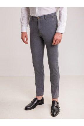 Dufy Açık Gri Denim Pamuk Likra Karışımlı Erkek Kot Pantolon - Regular Fıt