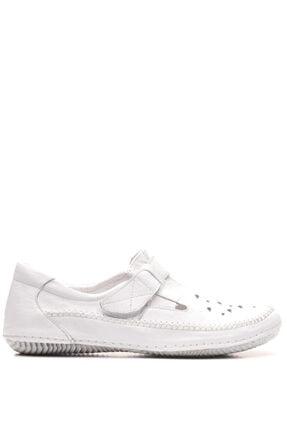 Bulldozer 201306 Beyaz Kadın Deri Ayakkabı