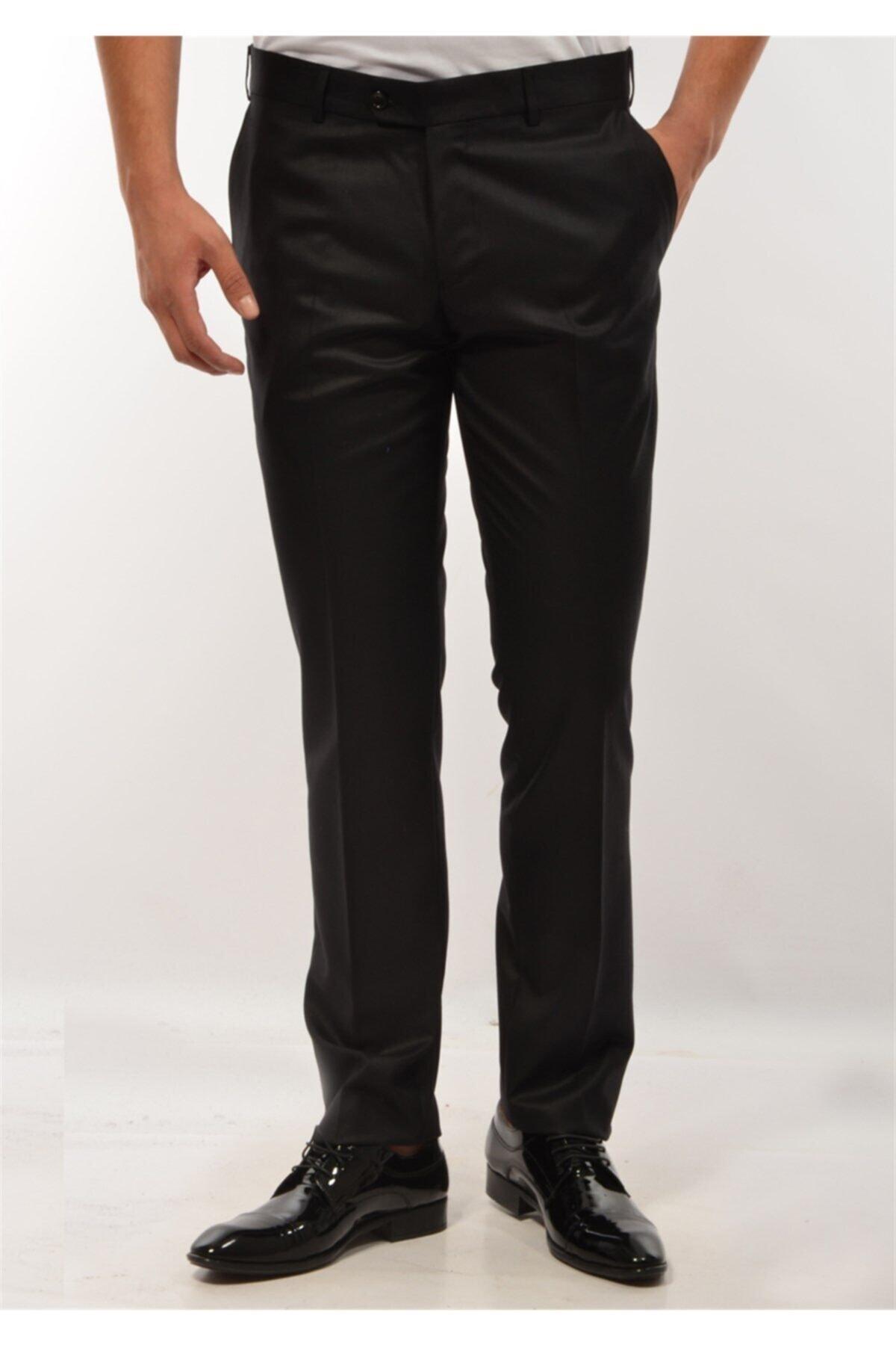 ModaPlaza Erkek Pantolon Siyah Kumaş 1