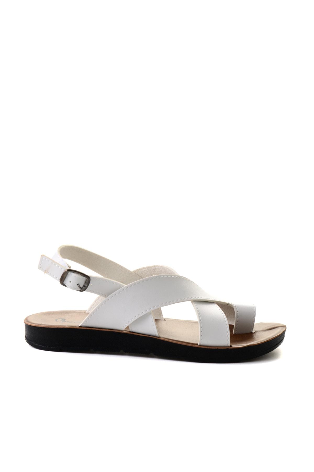 Bambi Beyaz Kadın Sandalet L0642111109 2