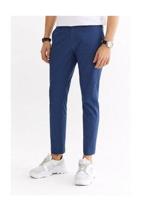 Avva Erkek Indigo Yandan Cepli Düz Slim Fit Pantolon A01y3029