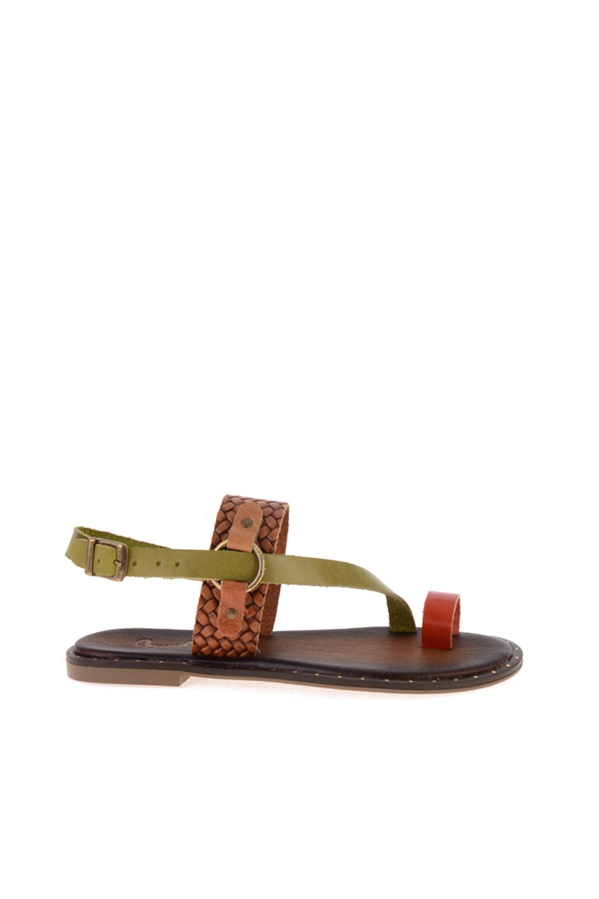Bambi Kiremit/yeş/taba Ö. Kadın Sandalet L0685085003 2