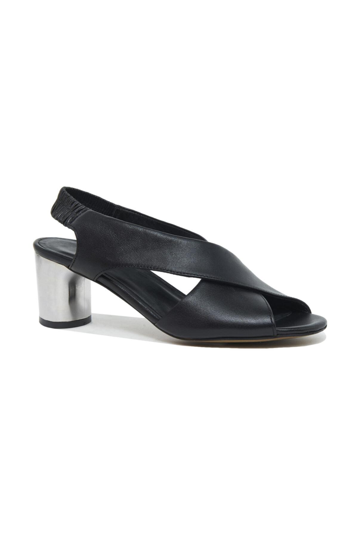 Desa Arrianna Kadın Deri Gümüş Topuklu Sandalet 1