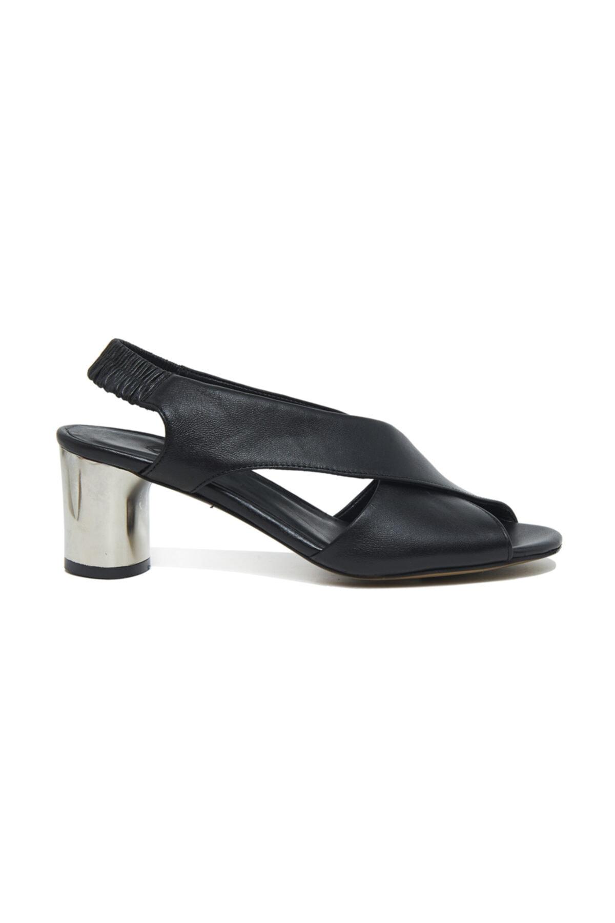 Desa Arrianna Kadın Deri Gümüş Topuklu Sandalet 2