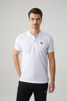 MP Erkek Polo Yaka Beyaz T-shirt Tekstil 201-5005mr 650