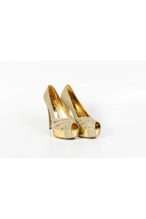 PUNTO Simli Yüksek Platform Kadın Ayakkabı