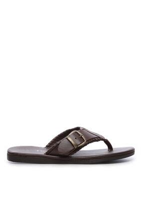 KEMAL TANCA Erkek Derı Terlik Sandalet 607 6010 Erk Trlk Y19